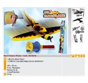 RED FLAME AIRPLANE-3D3020motorhobby, juguetecas, radio control, slot, modelismo, hobby